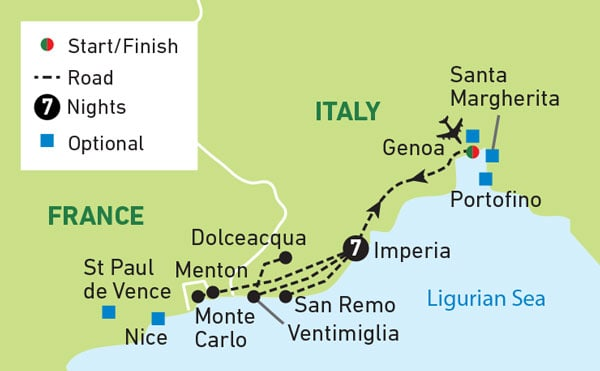 Map Of France French Riviera.French Italian Riviera Splendour Freedom Tours And Travel