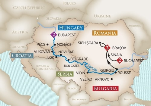 Gems Of Southeast Europe River Cruise from Freedom Tours and Travel
