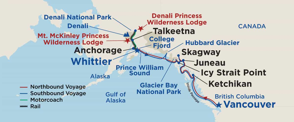 Alaska Tour Map