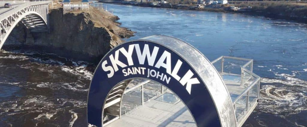 Photo of the Reversing Falls SkyWalk in Saint John, New Brunswick